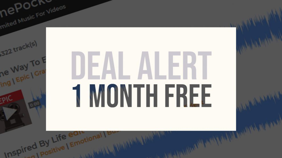 Deal Alert 1 month free at TunePocket