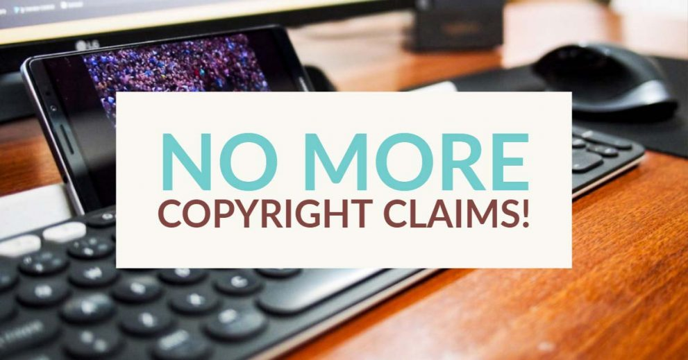 No more copyright claims