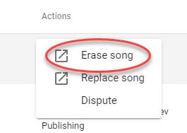 how to erase song youtube copyright