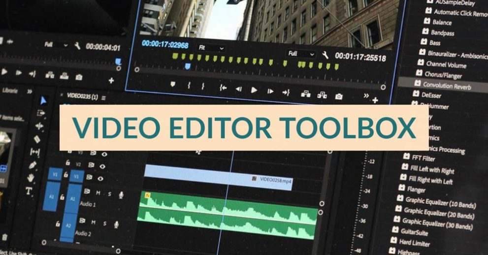 video editor toolbox stock footage
